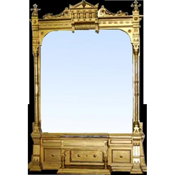 6793 Gilded Victorian Aesthetic Hall Mirror