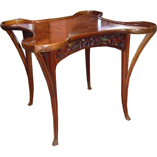6815 Inlaid Art Nouveau Table c.1890
