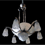 6825 Magnificent Art Deco Fruit Themed Chandelier
