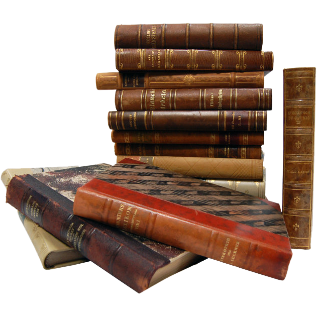 6837 Antique Leather Bound Books
