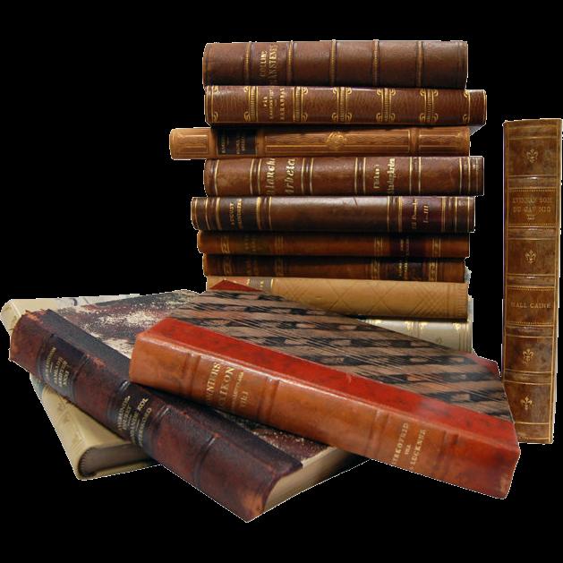 6837 Very Rare Antique Leather Bound Books