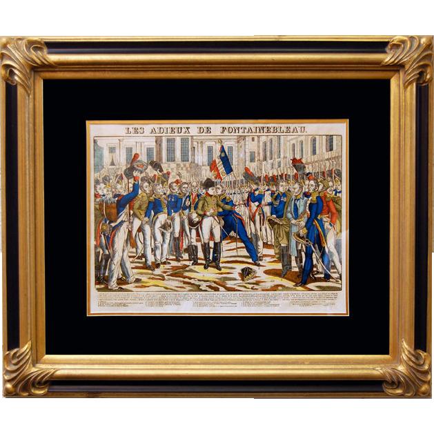"""6868 Napoleon Print - """"Les Adieux De Fontainebleau"""""""