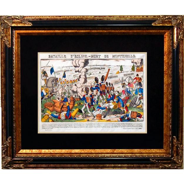 """6869 Napoleon Print - """"Bataille D'Esling - Mort De Montebello"""""""