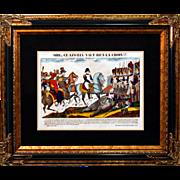 """6870 Napoleon Print - """"Sire Ce Linceul Vaut Bien La Croix!!"""""""