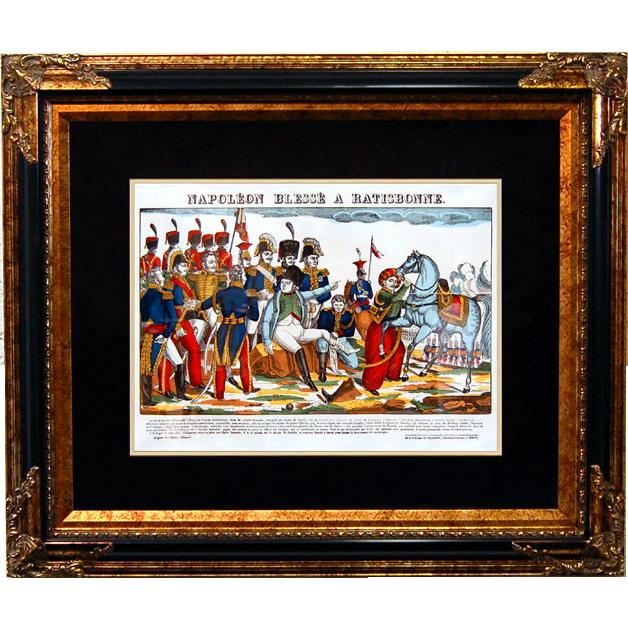 "6876 Napoleon Print - ""Napoleon Blesse A Ratisbonne"""