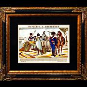 """6881 Napoleon Print - """"Napoleon A Montereau"""""""