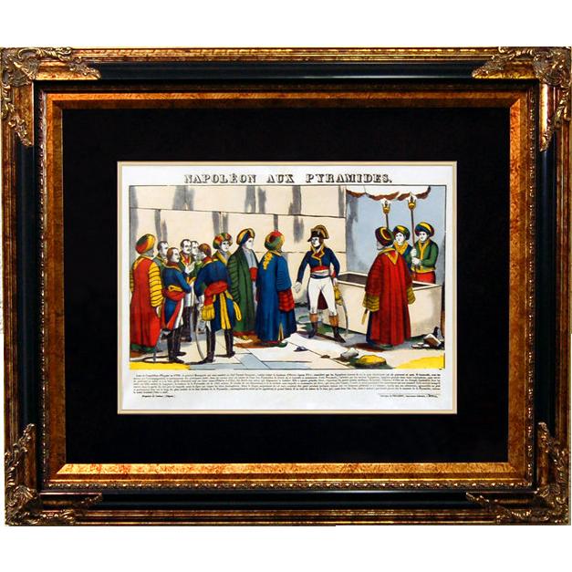 """6894 Napoleon Print - """"Napoleon Aux Pyramides"""""""