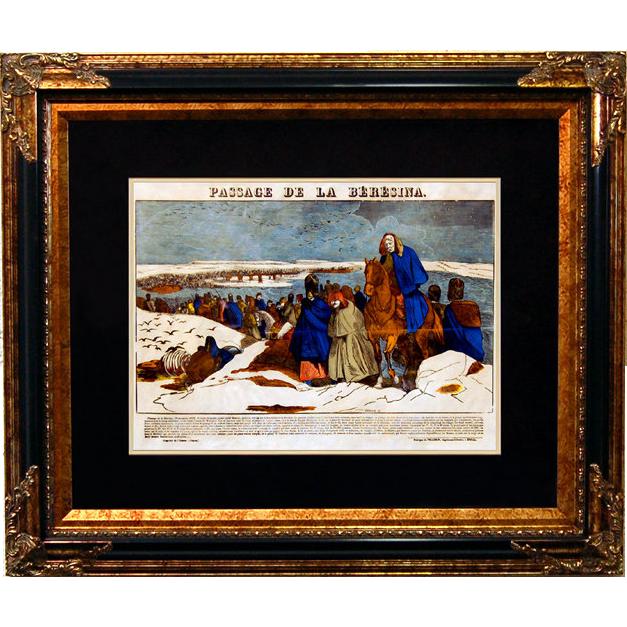 "6895 Napoleon Print - ""Passage De La Beresina"""