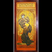 """6917 Alphonse Mucha Copper Foil Lithograph """"Lorenzaccio"""""""