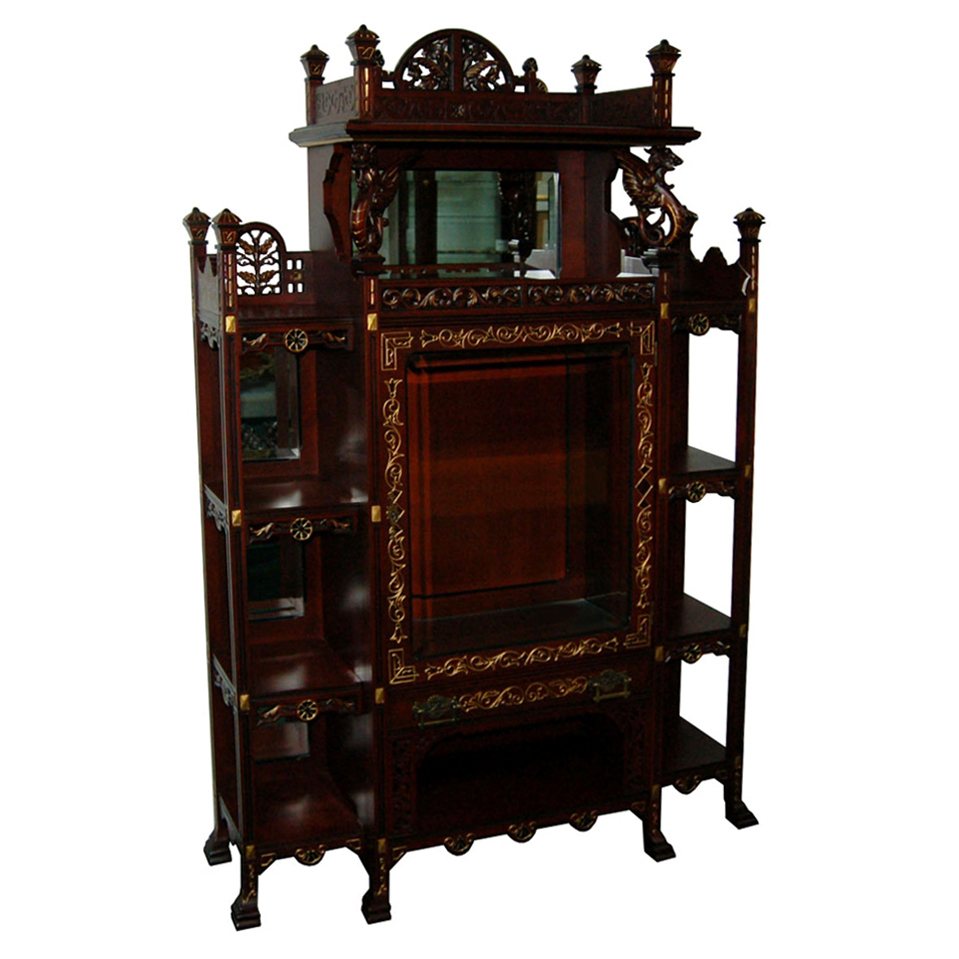 6925 American Eastlake Etagere with Griffins