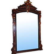 6948 Antique 19th C. Carved Wall or Mantel Mirror