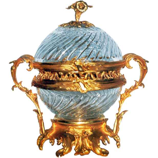 6952 Louis XV Style Gilt Bronze and Cut Glass Centerpiece