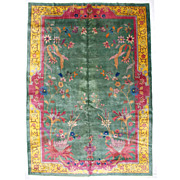 6968 Art Deco Style Chinese Rug c.1910