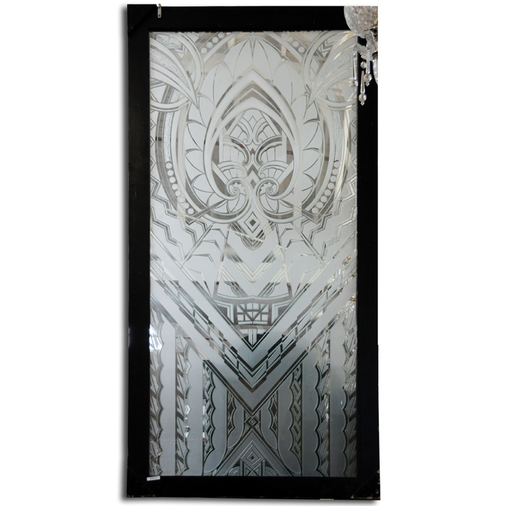 6973 Art Deco Etched Glass Window c.1920