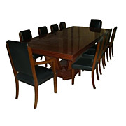 7025 Understated 11-piece French Art Deco Dining Set