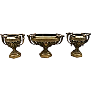 7047 French Neo-Classical 3-Piece Jardiniere & Urn Set