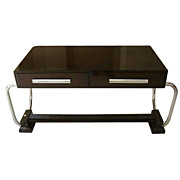 7067 French Art Deco Desk or Table with Chrome Hardware c.1920