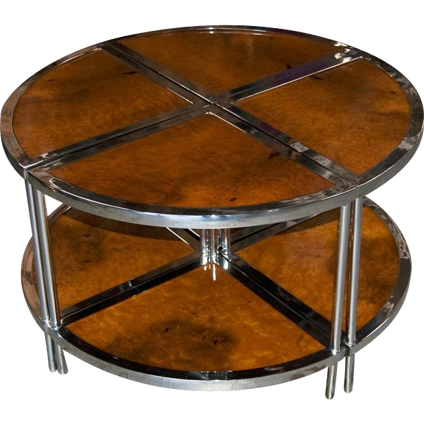 20.7068 Unique Four-Section Art Deco Side Table