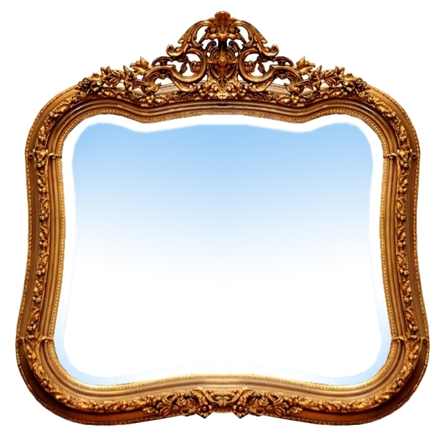 7084 Antique American Victorian Giltwood Mirror
