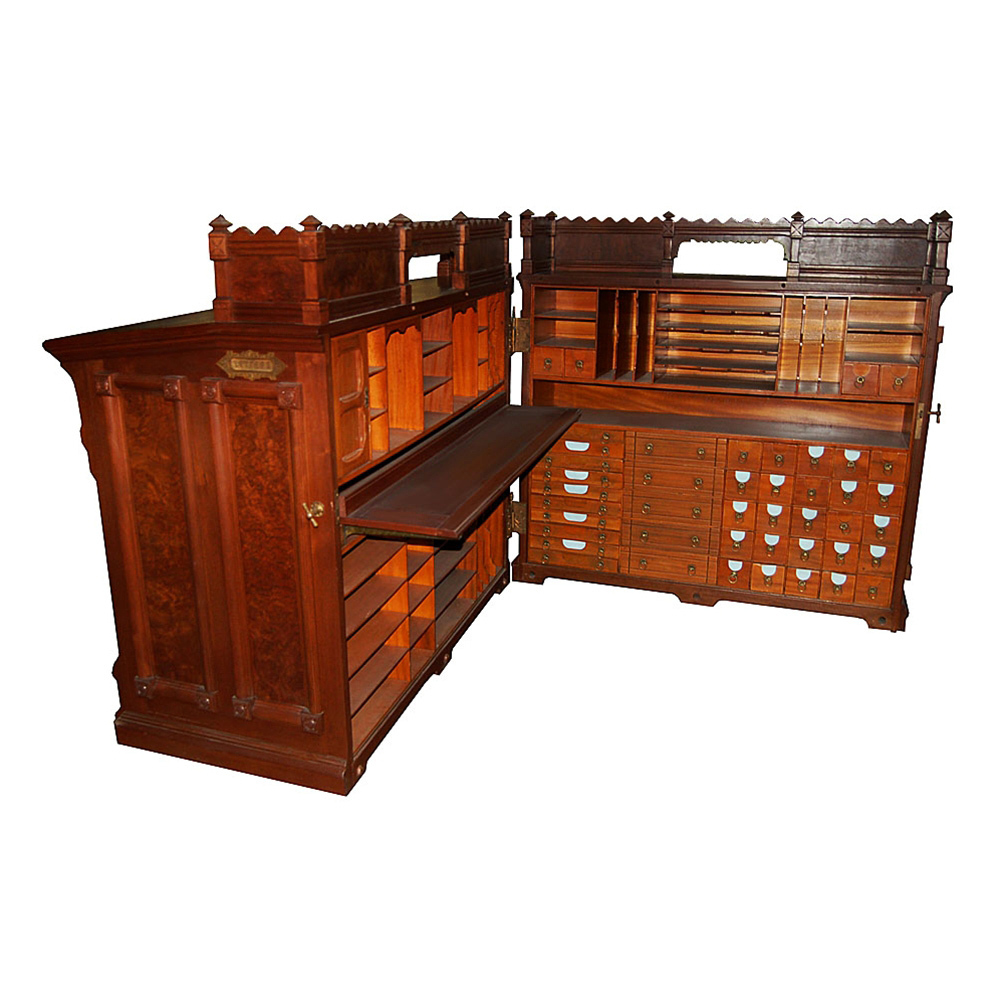 7100 Moore Combination Cabinet Desk c. 1878