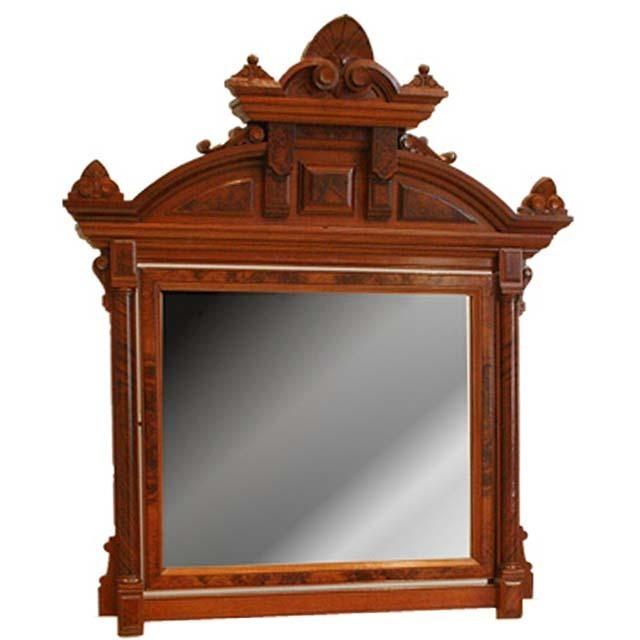 7103A Victorian Walnut Wall Mirror
