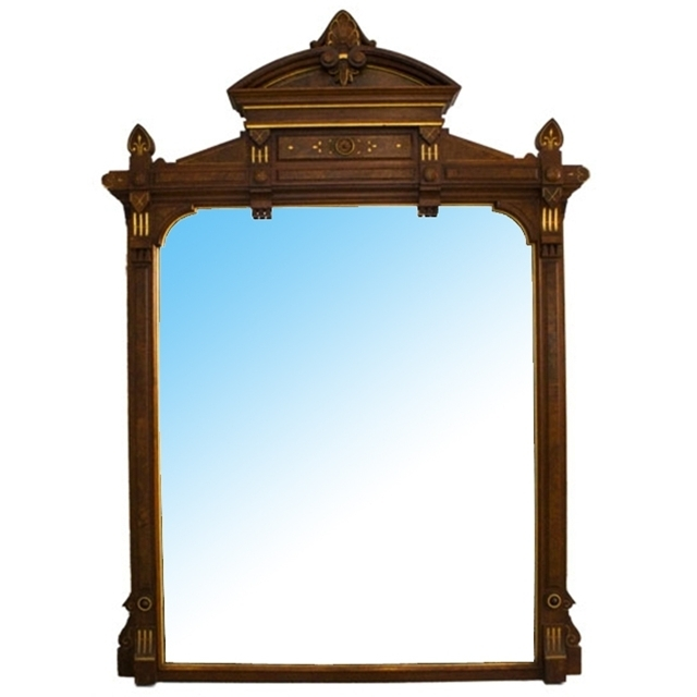 7104 Renaissance Revival Carved Walnut Overmantel Mirror