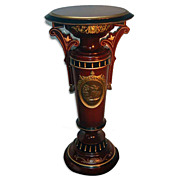 7156 American Aesthetic Ebonized Bronze-Mounted Pedestal