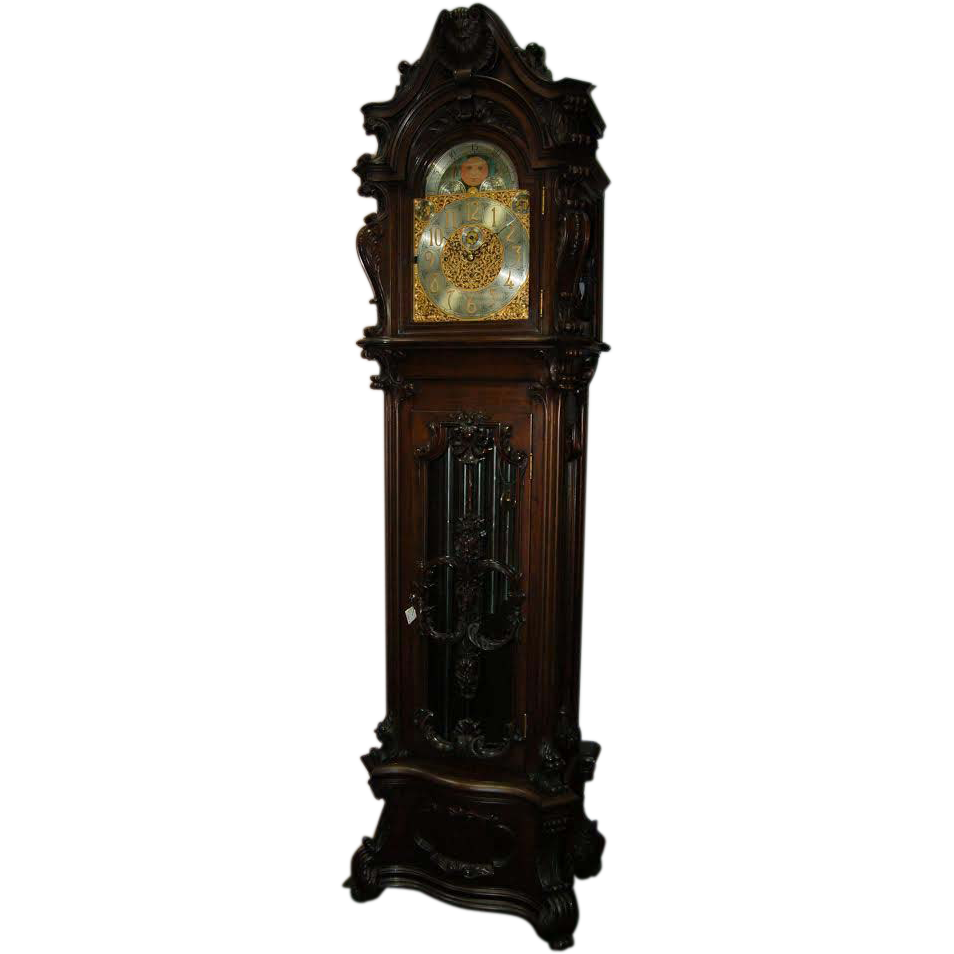 7165 Monumental R.J. Horner Walnut Grandfather Clock