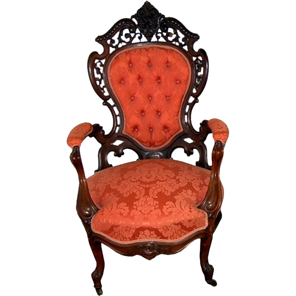 7198 19th C. American Rococo Armchair by J.W. Meeks