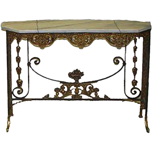 7209 19th C. Console Table by Oscar Bach