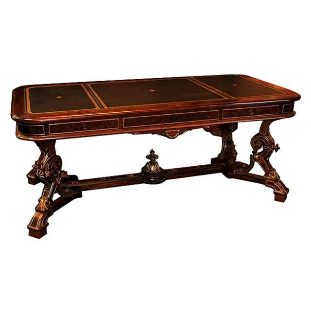 7210 19th C. American Victorian Library Table