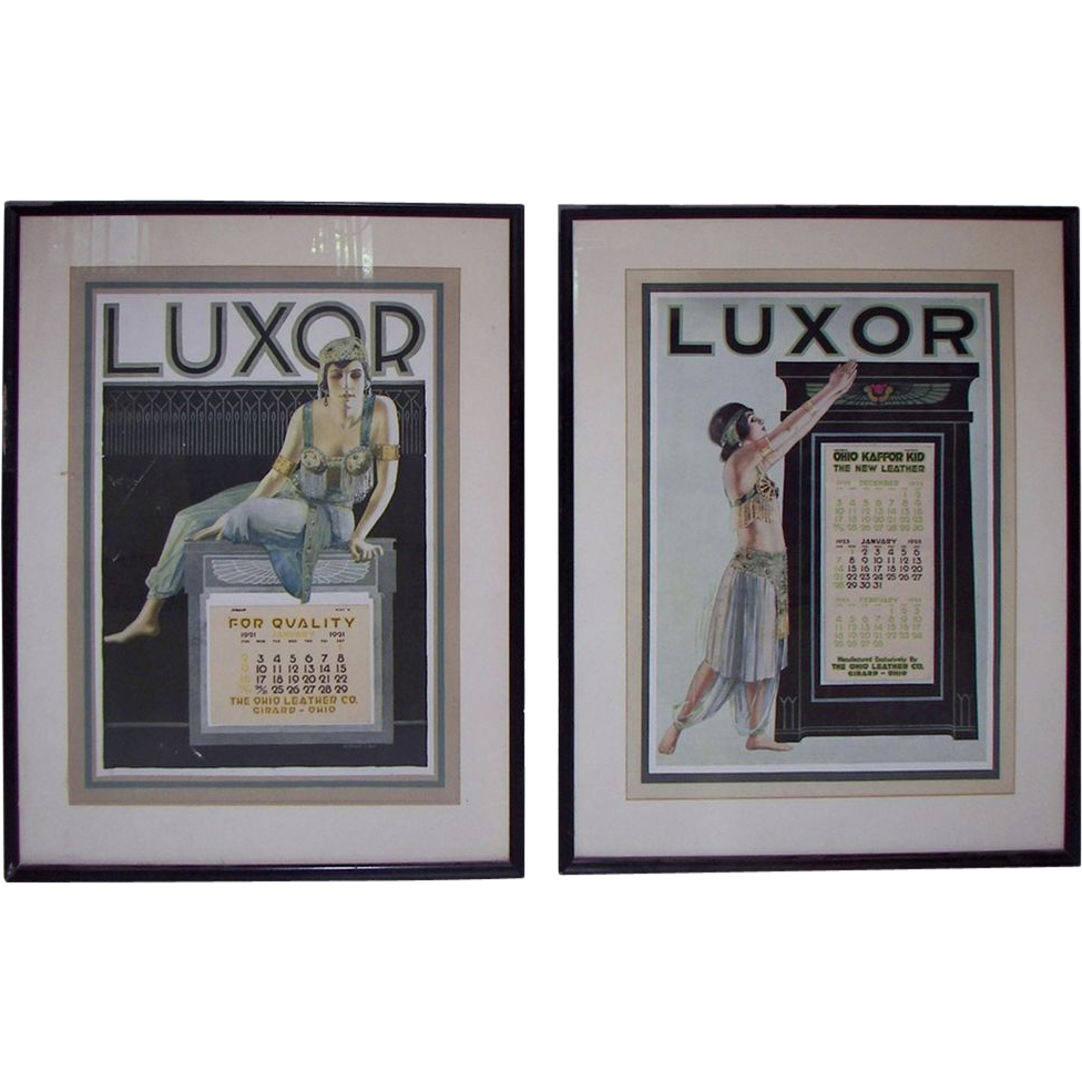7241 Pair of 1920s Luxor Advertising Calendars
