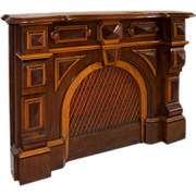 7281 Victorian Walunt Fireplace Mantel with Architectural Details