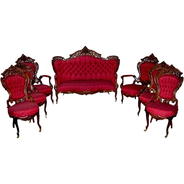 7303 19th C. 7-Piece Stanton Hall Parlor Set