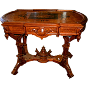 7313 19th C. American Renaissance Revival Inlaid Center Table