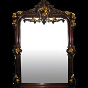 7336 Antique 19th Century Carved Renaissance Revival Mirror with Gilt Details