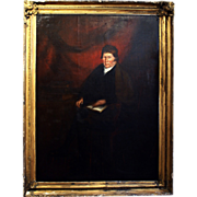 7337 Grand Scale 18th C. Oil on Canvas Portrait of an English Barrister