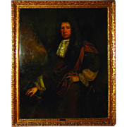 7358 17th C. Oil on Canvas Portrait of Sir John Morden
