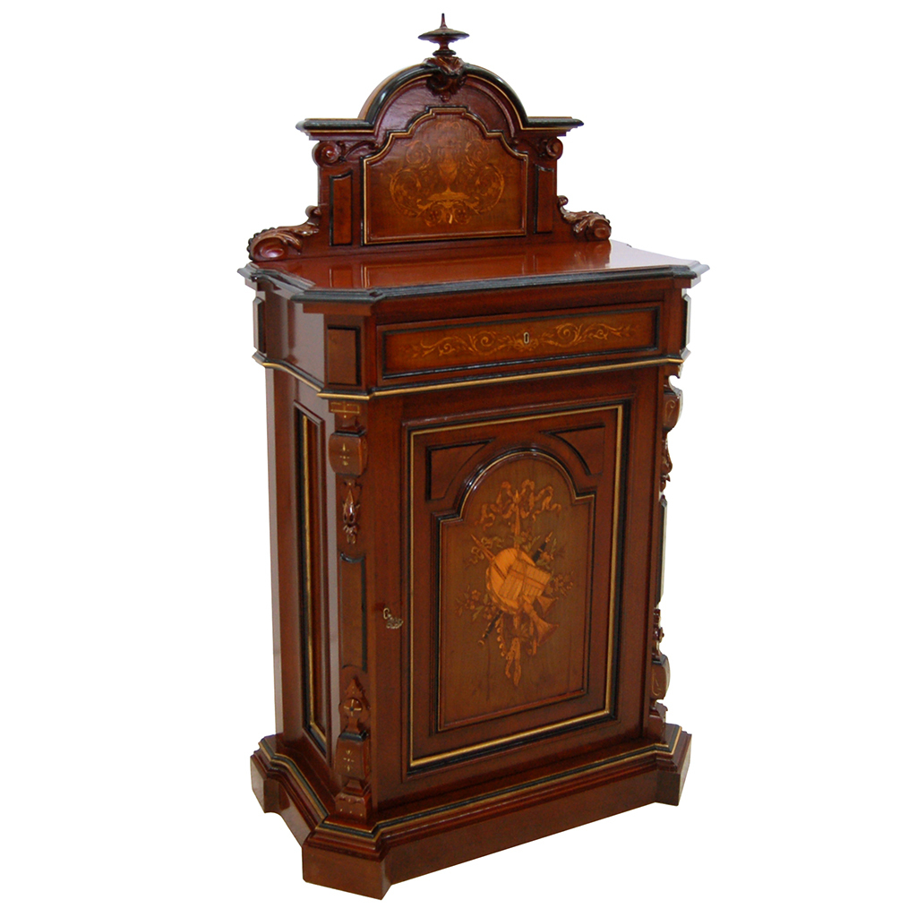 7359 American Renaissance Revival Rosewood Music Cabinet