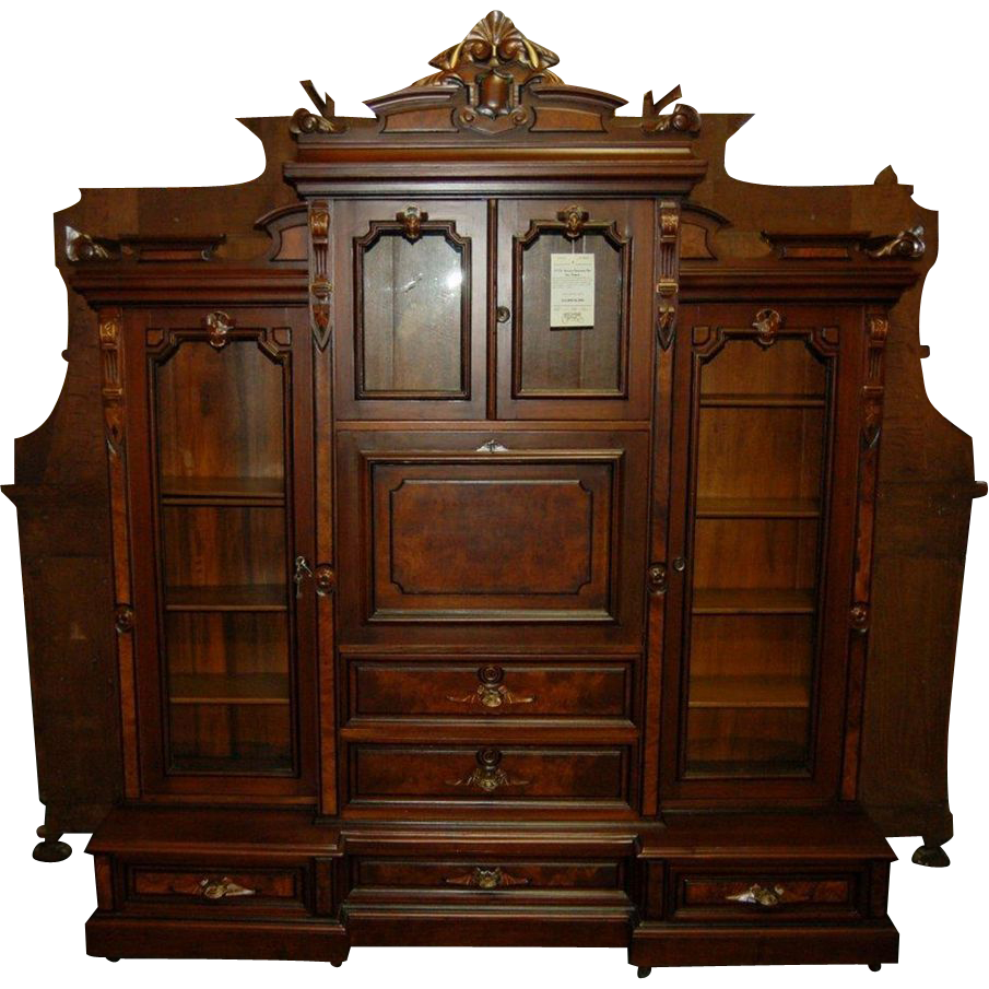 7374 19th C. American Renaissance Rosewood Bookcase