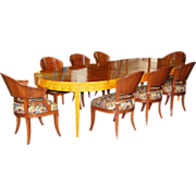 7417 F9-Piece Art Deco Dining Set c. 1925