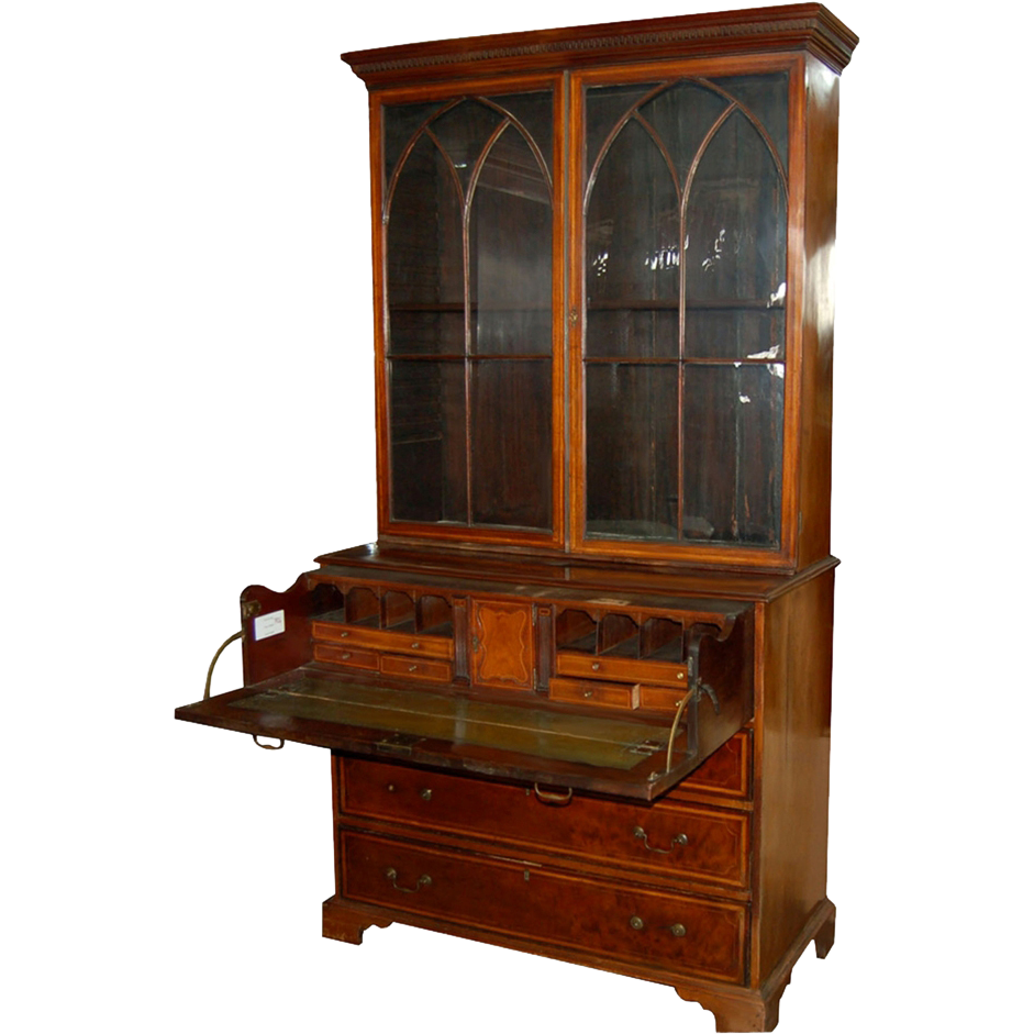 7426 English Mahogany Secretary Desk