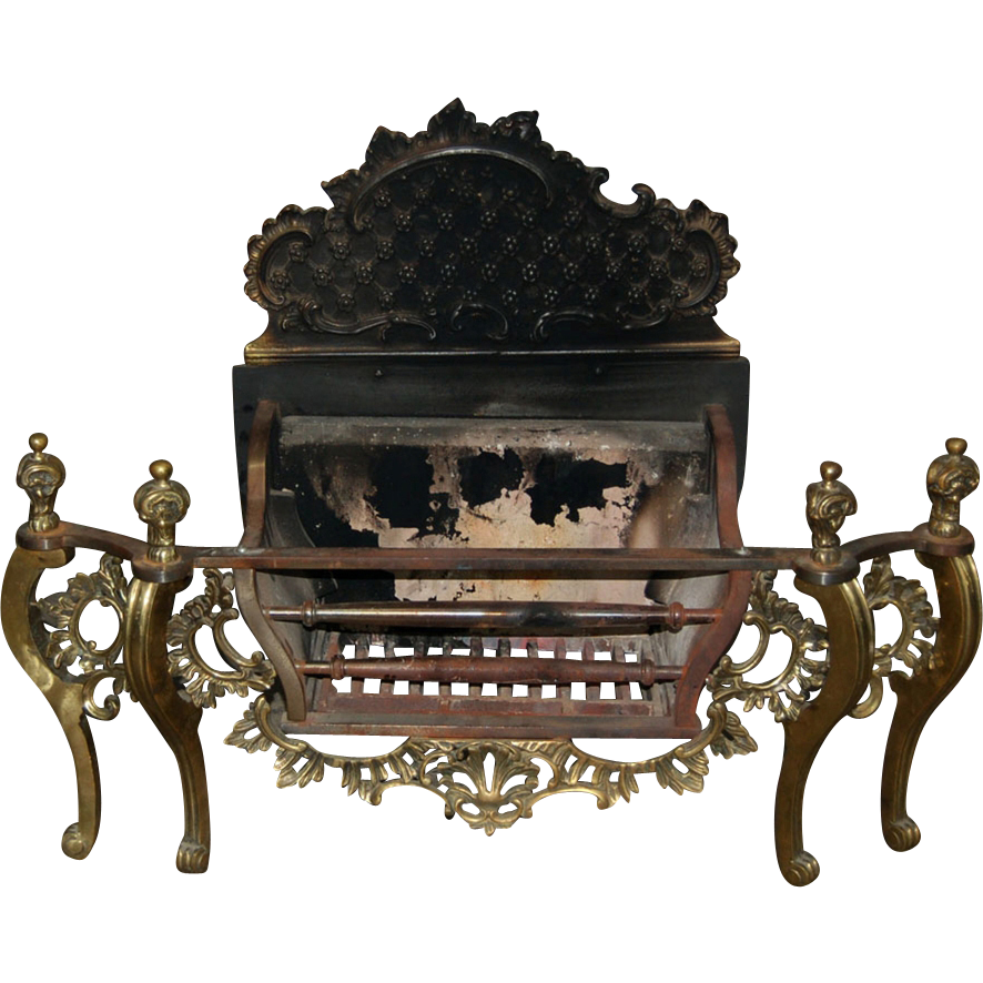 7490 19th C. Antique Victorian Fireplace Coal Burner