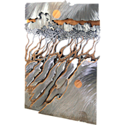 7521 Sheet Metal Landscape Wall Sculpture