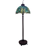 7523 Antique Tiffany Laburnum Floor Lamp