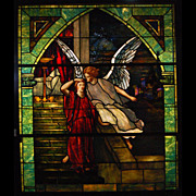 7546 Tiffany Stained Glass Angel Window