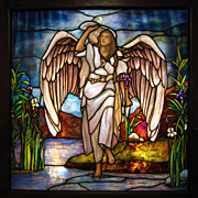 7547 Tiffany Stained Glass Angel Window