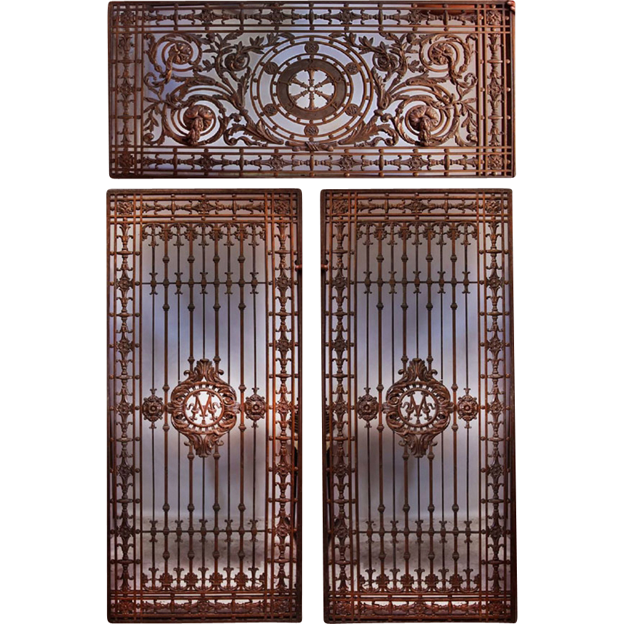 7565 Ornate Antique Bronze Entryway