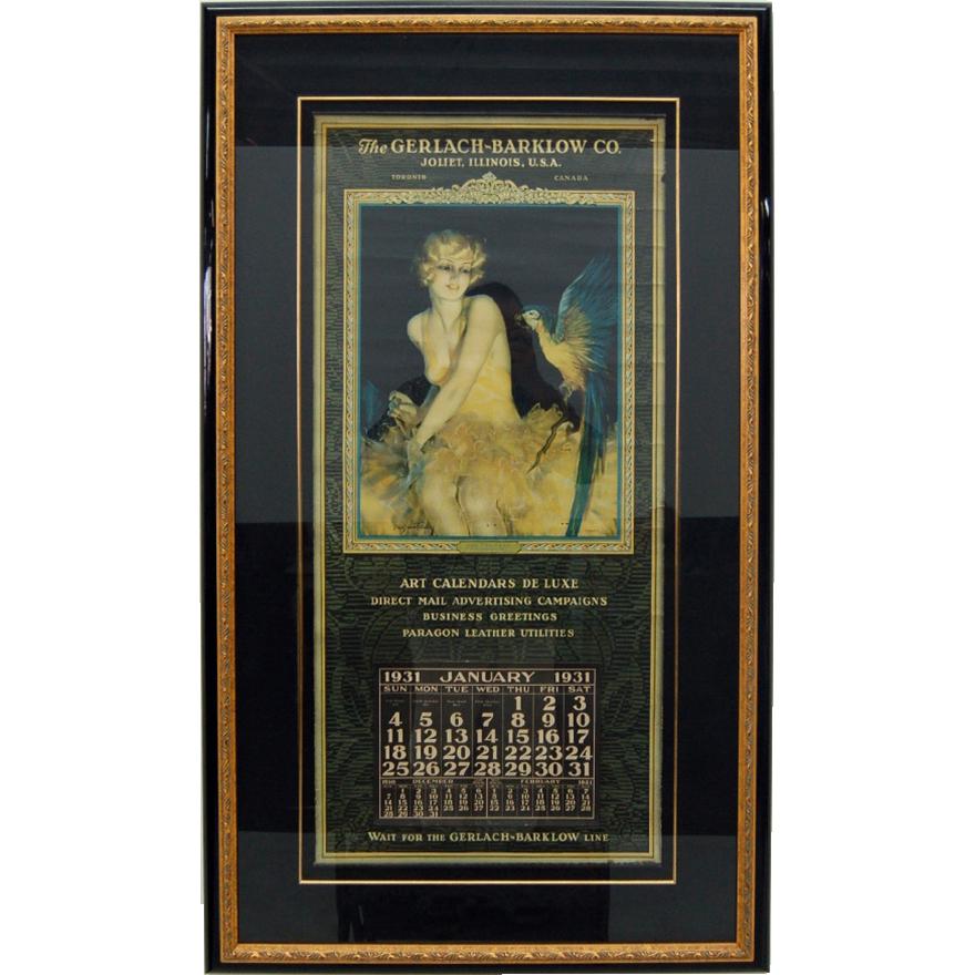 7589 Original Art Calendar produced by the Gerlach-Barklow Co.