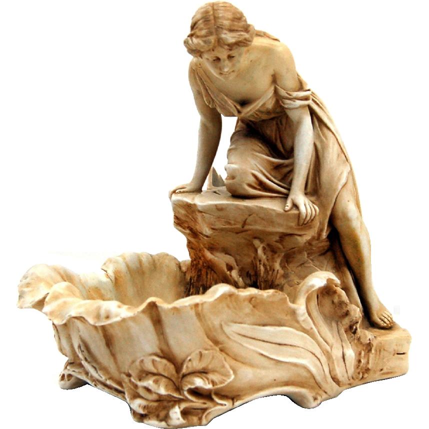 7596 Royal Dux Ceramic Figurine